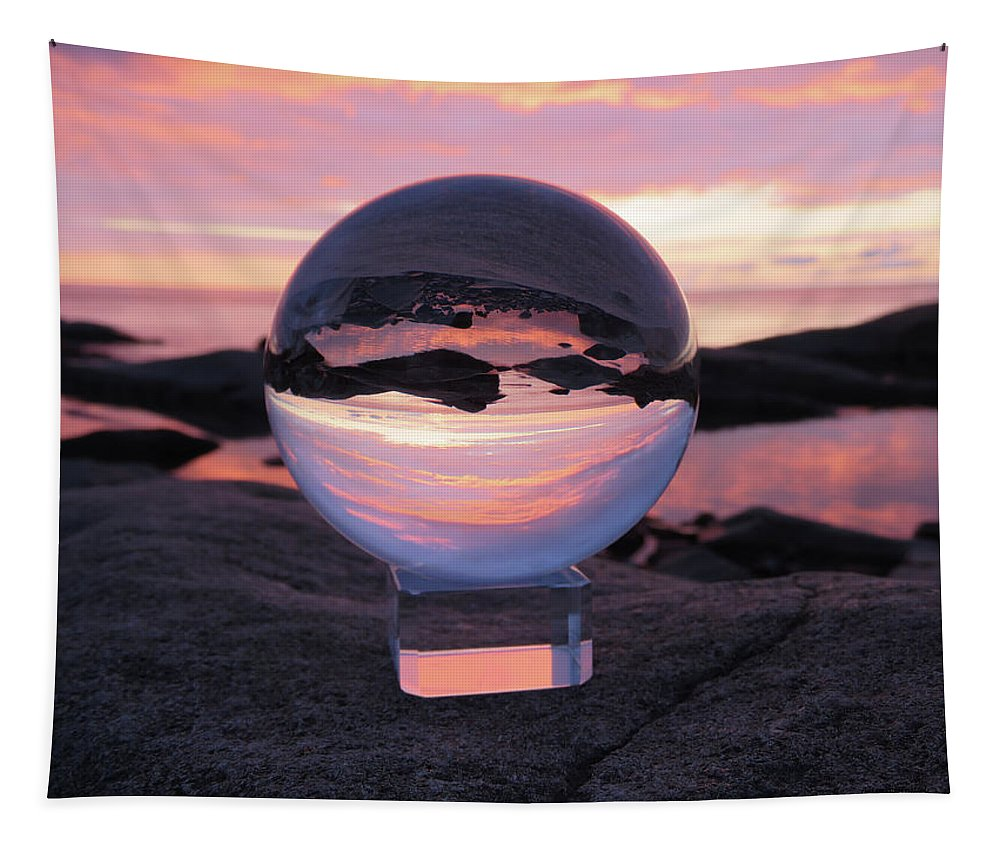 Crystal Ball Tapestry featuring the photograph Brighton Beach Reflections by Alison Gimpel