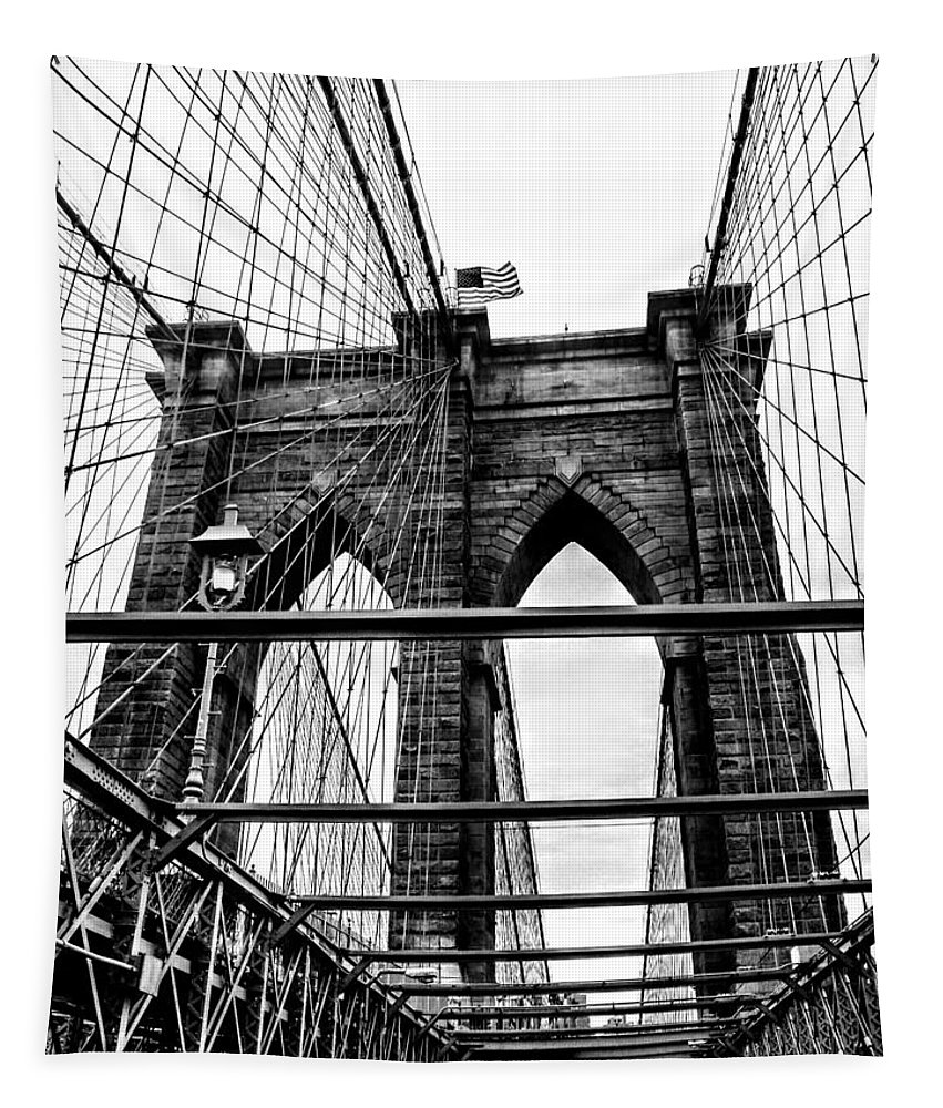 Brooklyn Bridge Tapestry featuring the photograph Brooklyn Bridge by Keri Butcher