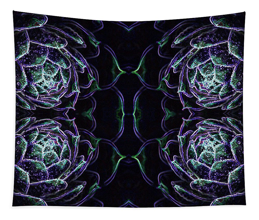 Mandela Tapestry featuring the photograph Cactus Mandela - 1 by Paul W Faust - Impressions of Light