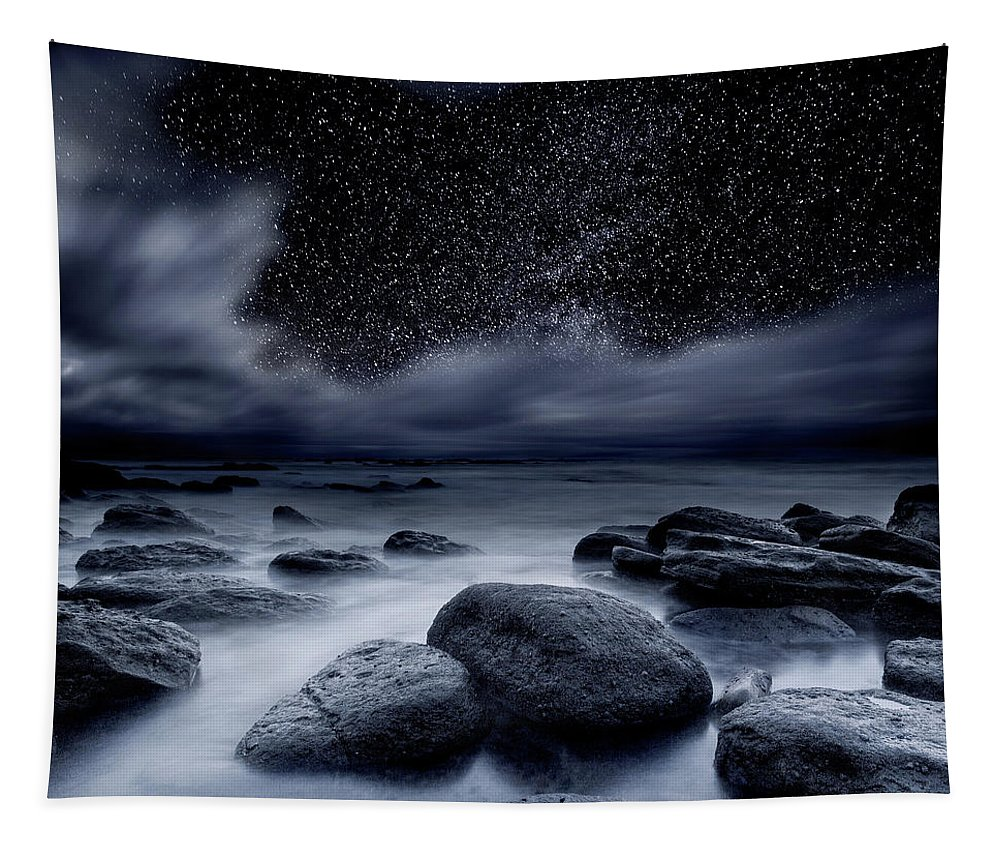 Night Tapestry featuring the photograph Celestial Night by Jorge Maia
