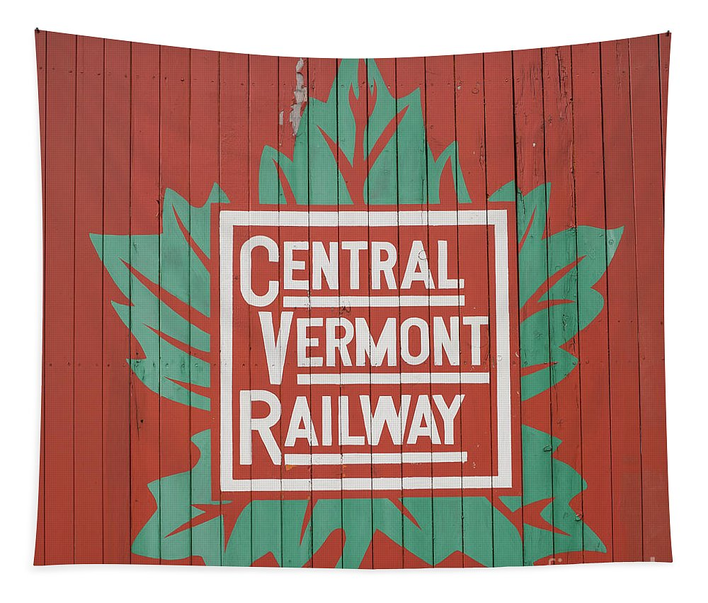Railway Tapestry featuring the photograph Central Vermont Railway by Edward Fielding