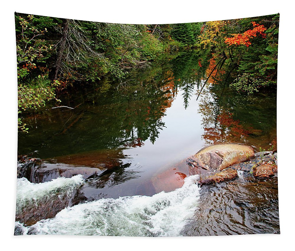 Chikanishing River Tapestry featuring the photograph Chikanishing River In Autumn by Debbie Oppermann