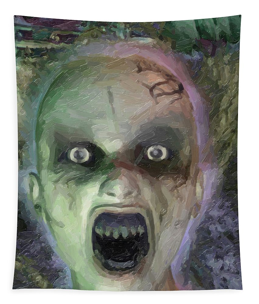 Child Ghost Tapestry featuring the digital art Child Ghost by Joaquin Abella