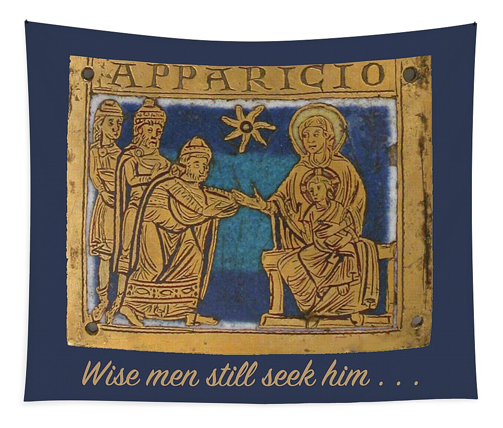 Christmas Tapestry featuring the digital art Christmas Card 2 - Wise Men by Bruce