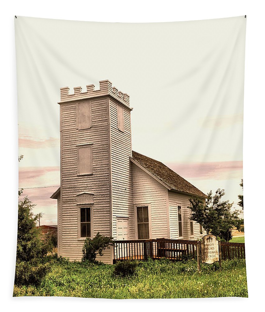 Church Tapestry featuring the photograph Church In Bowman North Dakota by Jeff Swan