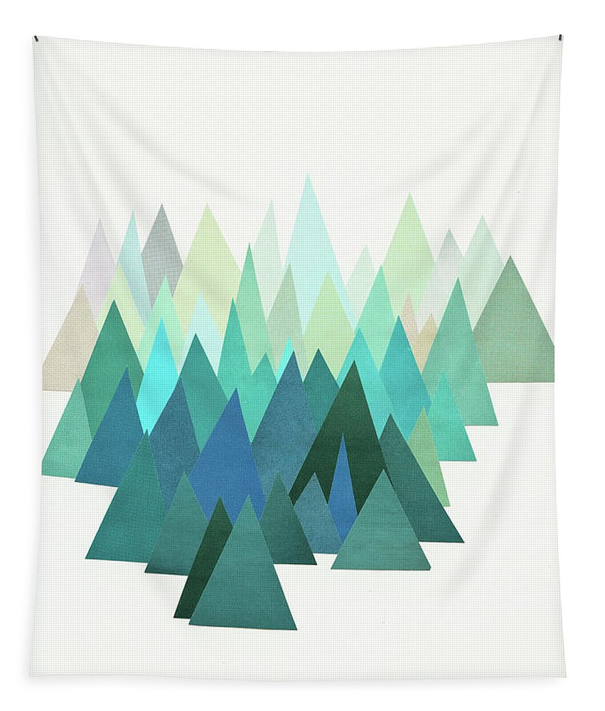 Mountains Tapestry featuring the mixed media Cold Mountain by Cassia Beck