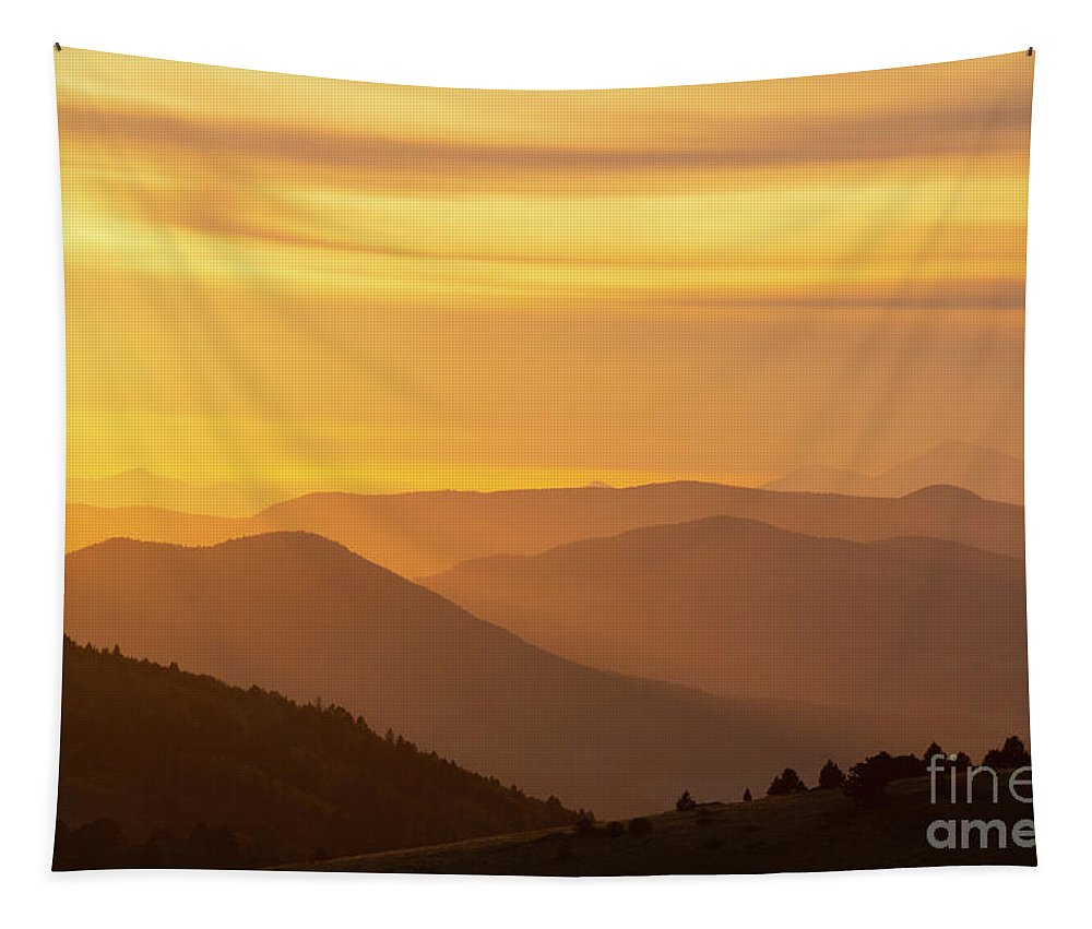 Collegiate Peaks Tapestry featuring the photograph Collegiate Peaks Sunset by Steve Krull