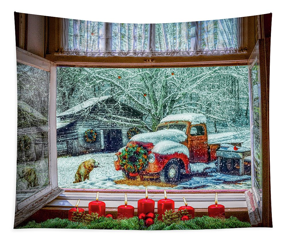 Barn Tapestry featuring the photograph Coming Home by Debra and Dave Vanderlaan