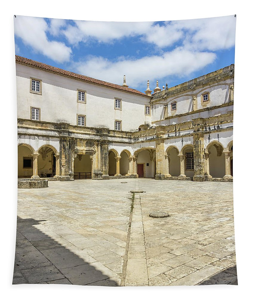 Building Tapestry featuring the photograph Convent Of Christ 5 by Carol Herbert