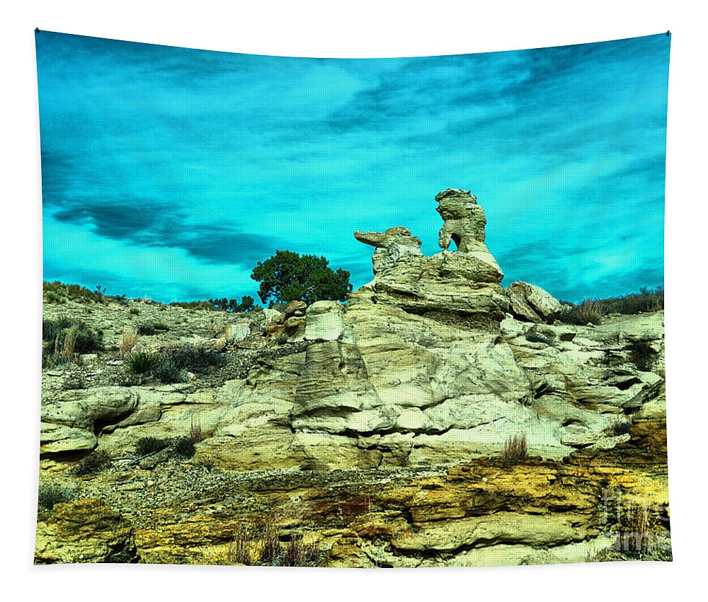 New Mexico Tapestry featuring the photograph Crazy Rock Formations In New Mexico by Jeff Swan