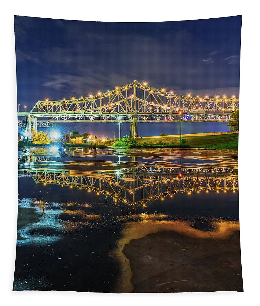 New Orleans Tapestry featuring the photograph Crescent City Reflection by Chase This Light Photography