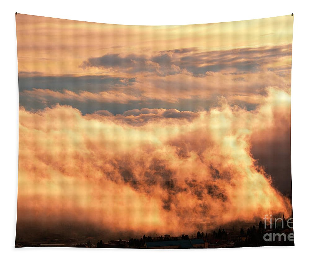 Clouds Tapestry featuring the photograph Cripple Creek Fog by Steve Krull