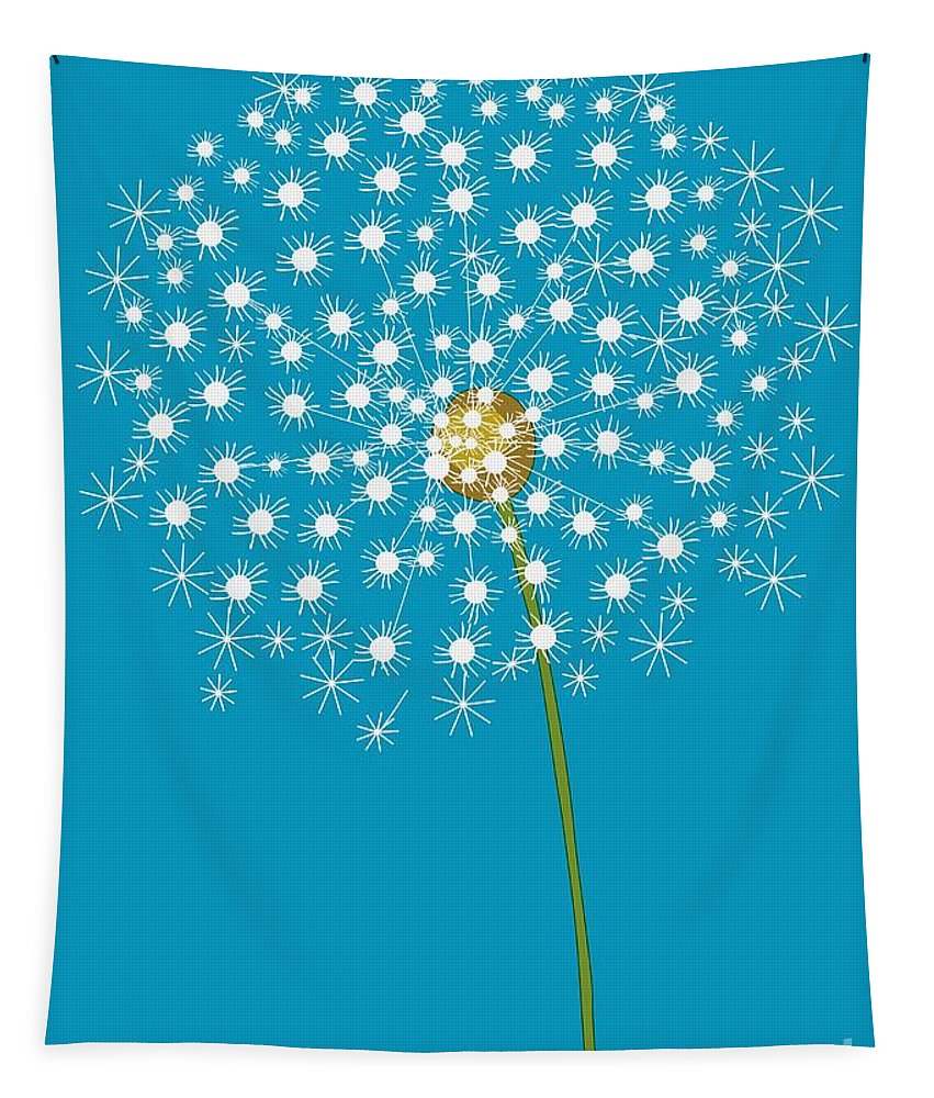 Dandelion Tapestry featuring the digital art Dandelion by Mira Dimitrijevic