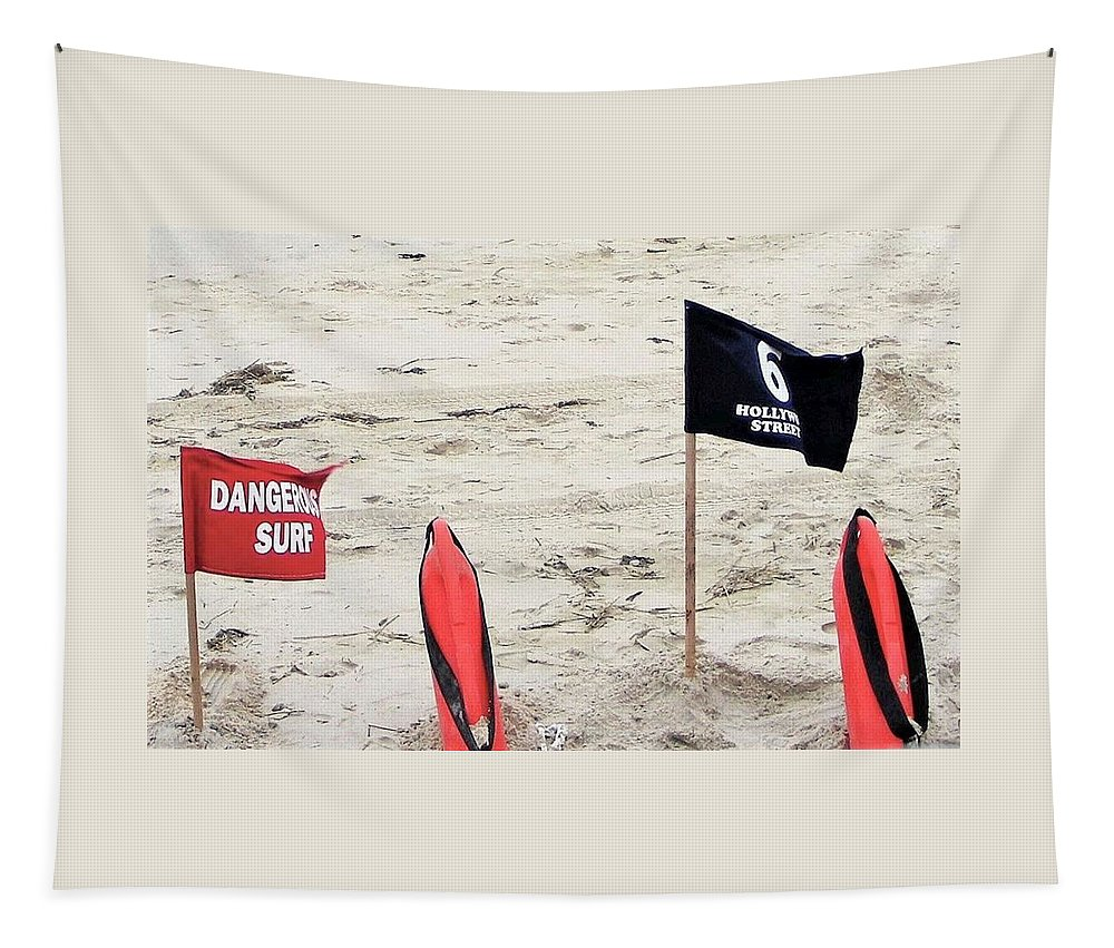 Beach Tapestry featuring the photograph Dangerous Surf by Kim Bemis