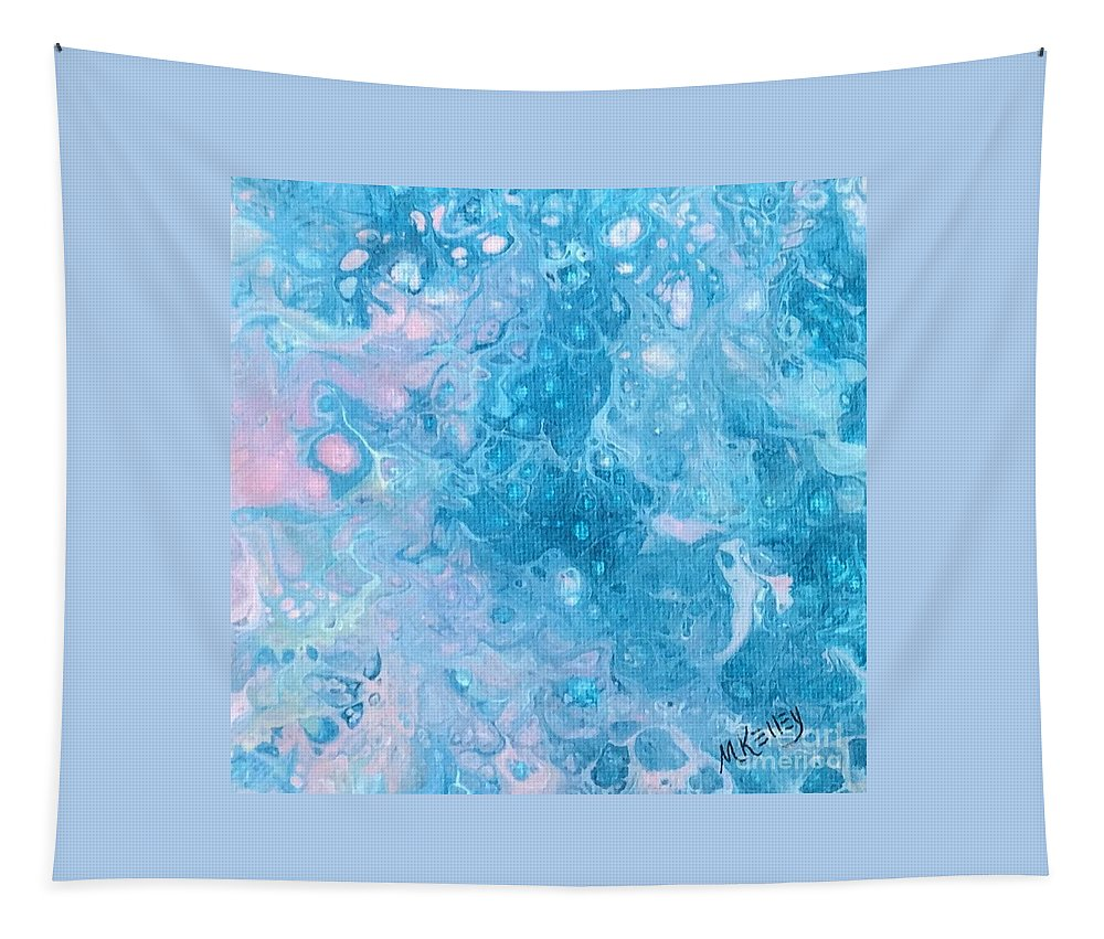 Shades Of Blue Tapestry featuring the painting Dawn Reflections by Marsha McAlexander