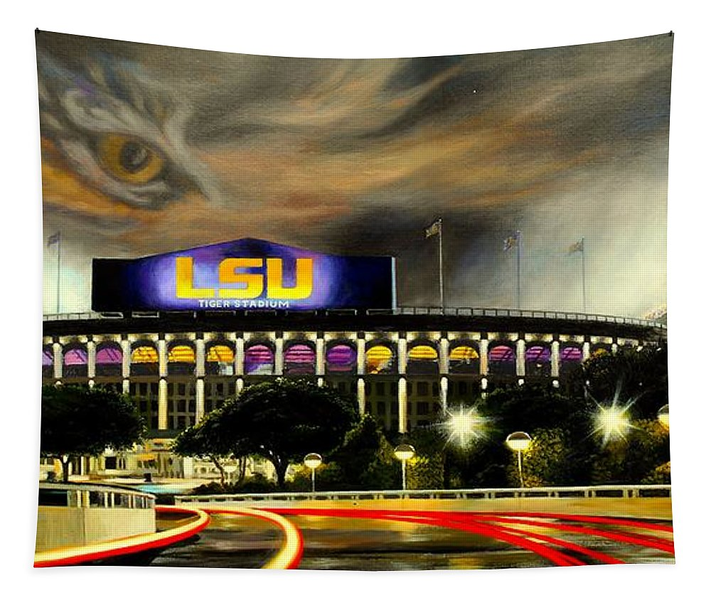 Art Tapestry featuring the painting Death Valley Game Time by Mike Roberts