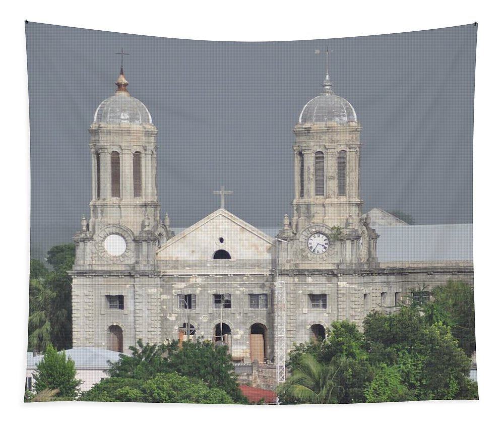 Building Tapestry featuring the photograph Domed Towers by John Hughes