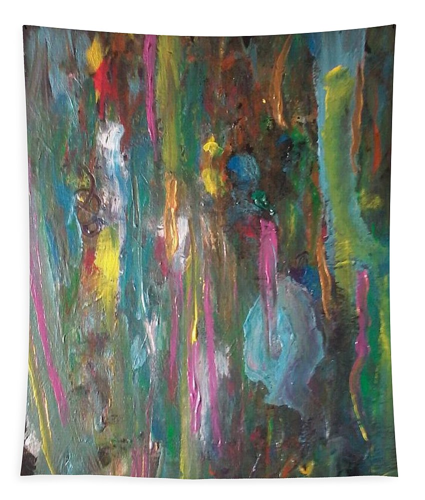 An Explosion Of Color Tapestry featuring the painting Dreams by Cynthia Holton