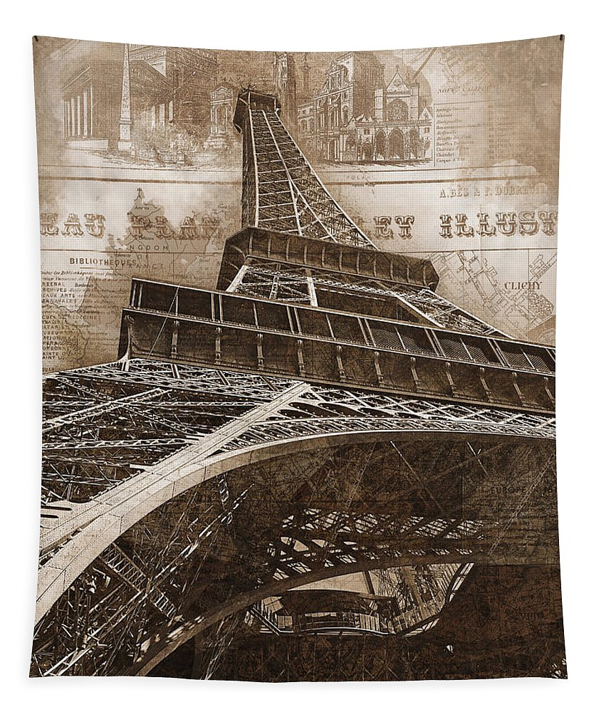 Eiffel Tower Tapestry featuring the photograph Eiffel Tower by Darin Williams