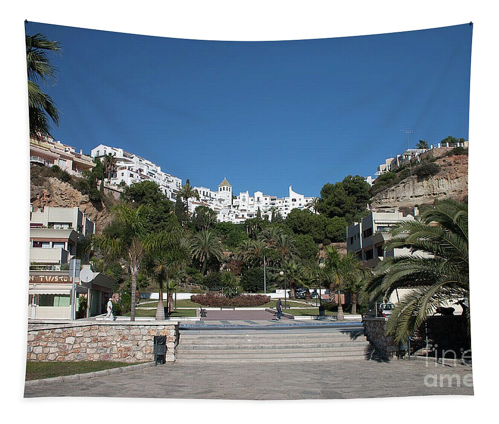 Nerja Tapestry featuring the photograph El Capistrano by John Edwards