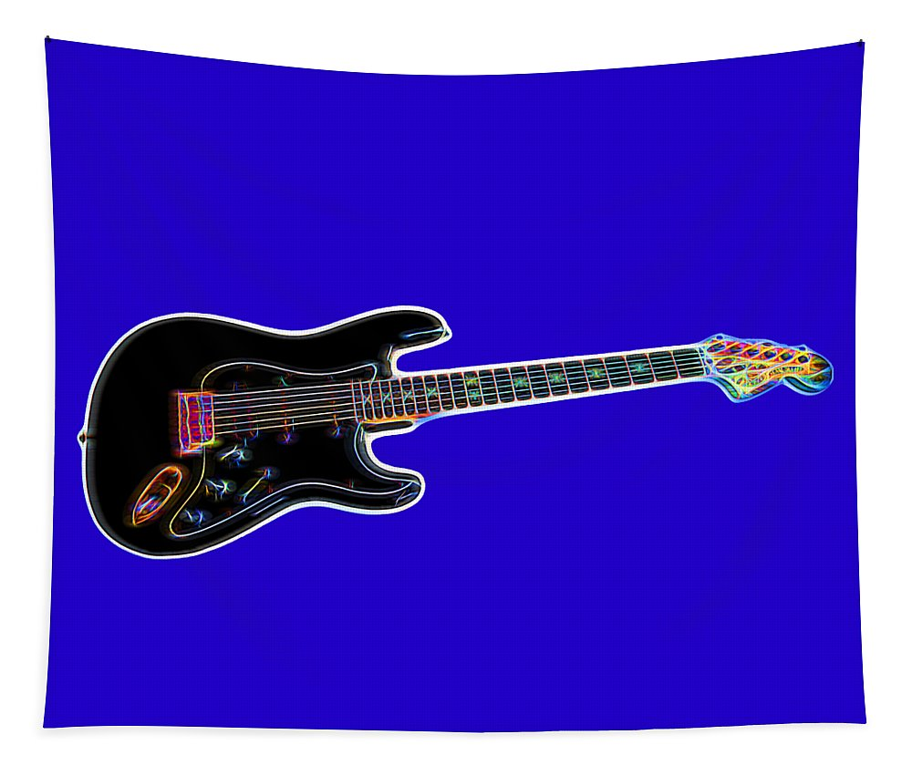 Guitar Tapestry featuring the photograph Electric Guitar by Judy Vincent