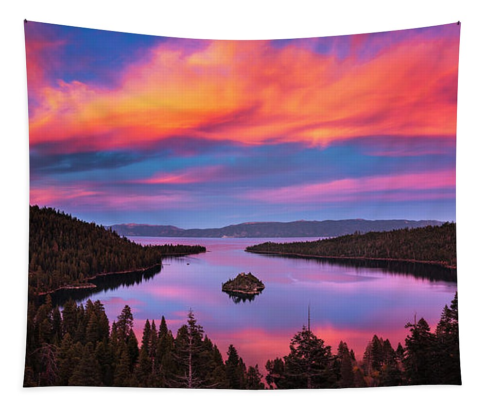 Emerald Bay Tapestry featuring the photograph Emerald Bay Explode by Brad Scott