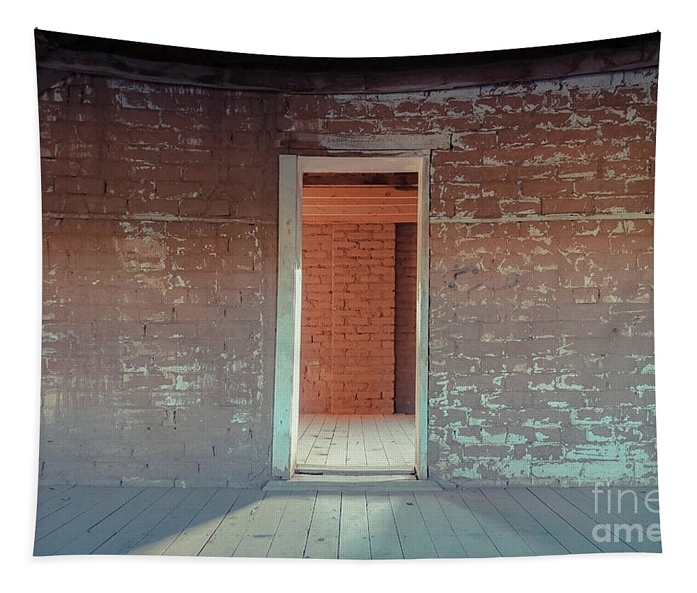 Empty Tapestry featuring the photograph Empty Old Brick House Grafton Ghost Town by Wendy Fielding