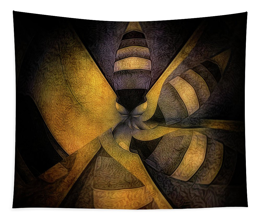 Mixedmedia Tapestry featuring the mixed media Escape The Hive by Barry W King