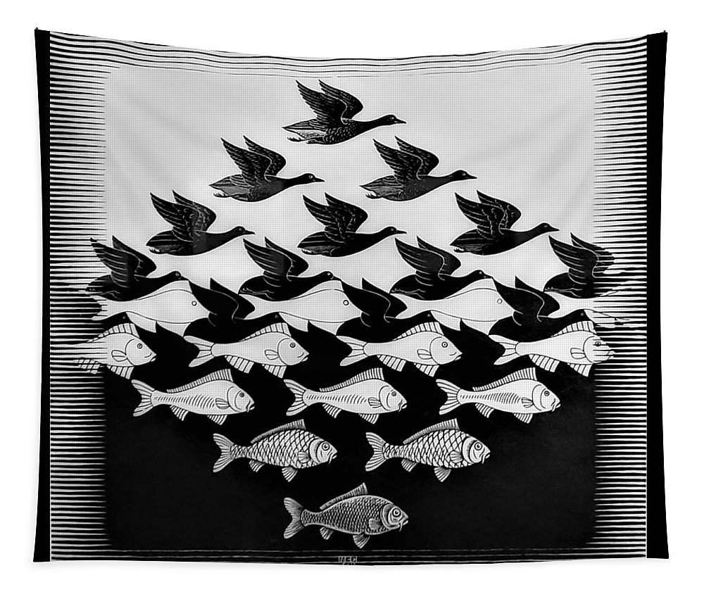 Maurits Cornelis Escher Tapestry featuring the photograph Escher 115 by Rob Hans