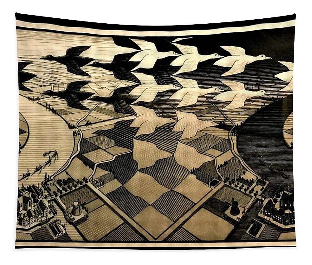 Maurits Cornelis Escher Tapestry featuring the photograph Escher 116 by Rob Hans