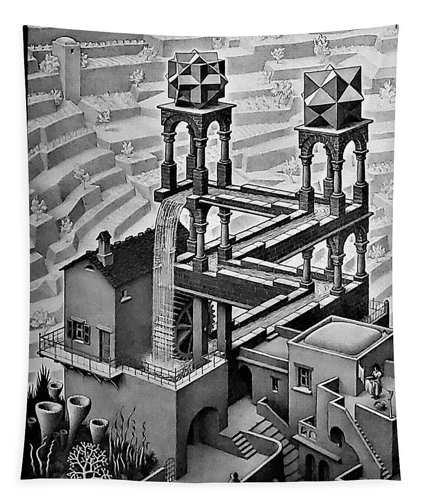 Maurits Cornelis Escher Tapestry featuring the photograph Escher 128 by Rob Hans