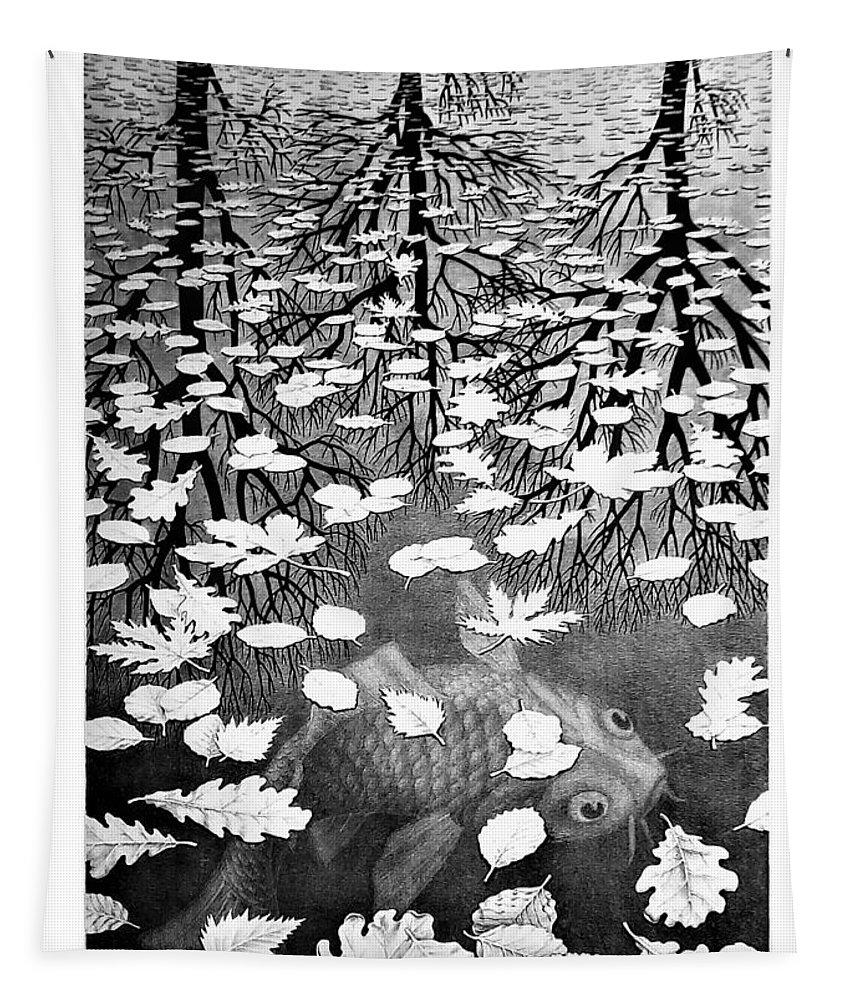 Maurits Cornelis Escher Tapestry featuring the photograph Escher 98 by Rob Hans