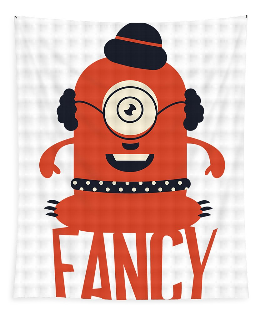 Cartoon Tapestry featuring the digital art Fancy Monster by Passion Loft