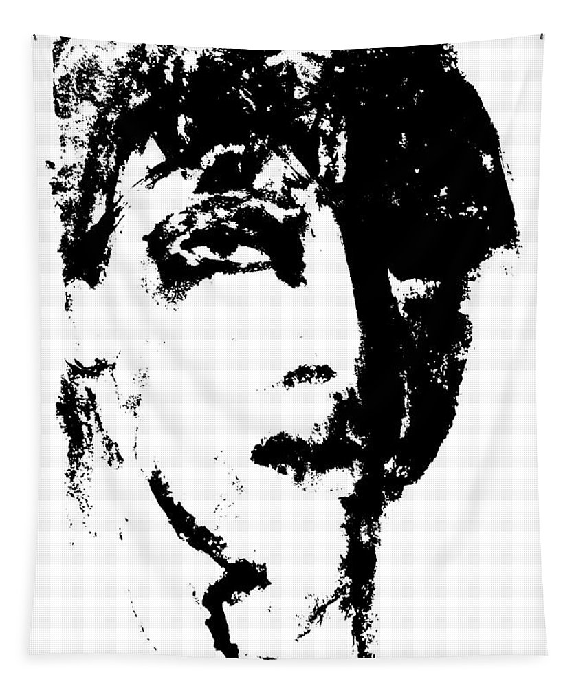 Fashion Tapestry featuring the digital art Fashion Male Model Portrait by Artist Dot