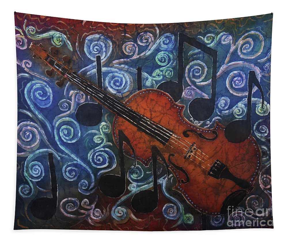 Fiddle Tapestry featuring the painting Fiddle 1 by Sue Duda