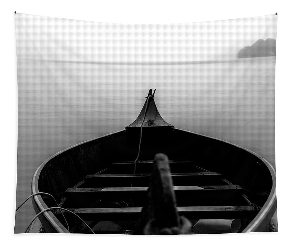 Black And White Tapestry featuring the photograph Final Destination by Keith Elliott