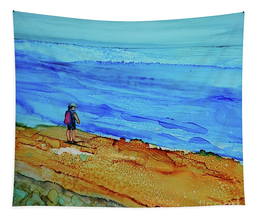 Cape Fear Tapestry featuring the painting Finding Cape Fear by Patty Donoghue