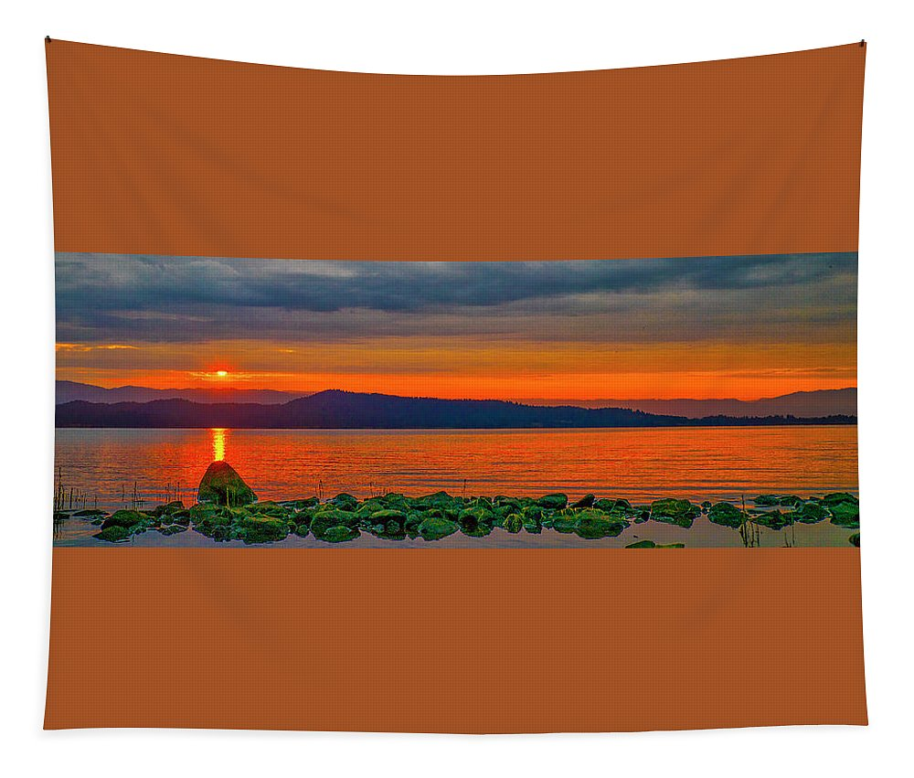 Lake Tapestry featuring the photograph Fire Rock by Tom Gresham