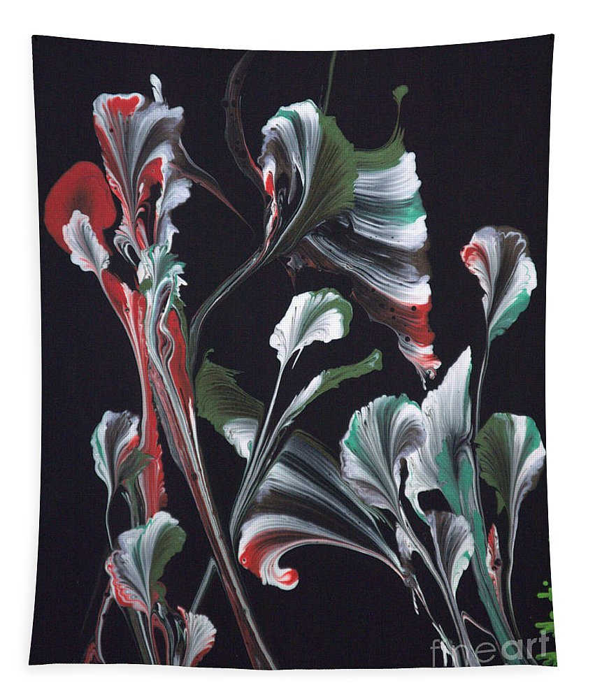Flower Tapestry featuring the painting Flower Dance by Maria Martinez