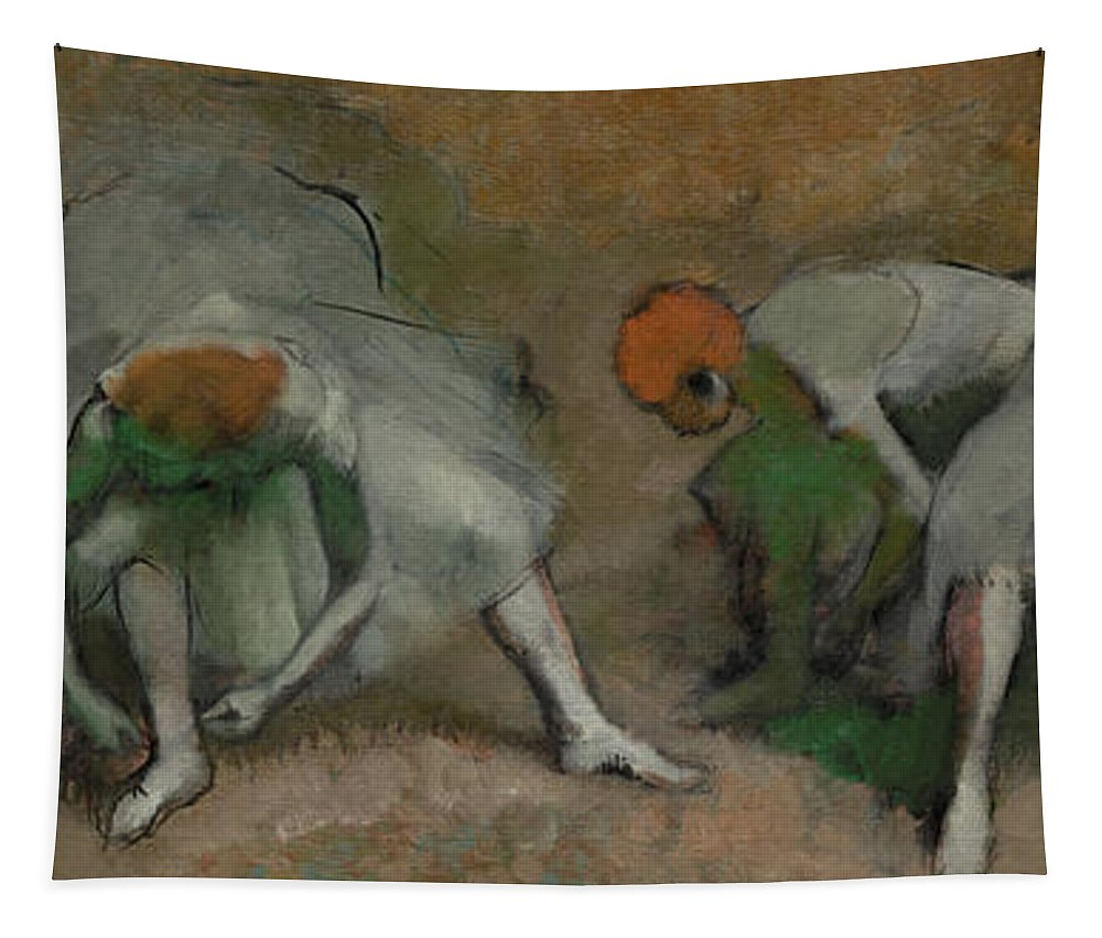 Edgar Degas Tapestry featuring the painting Frieze Of Dancers, 1895 by Edgar Degas