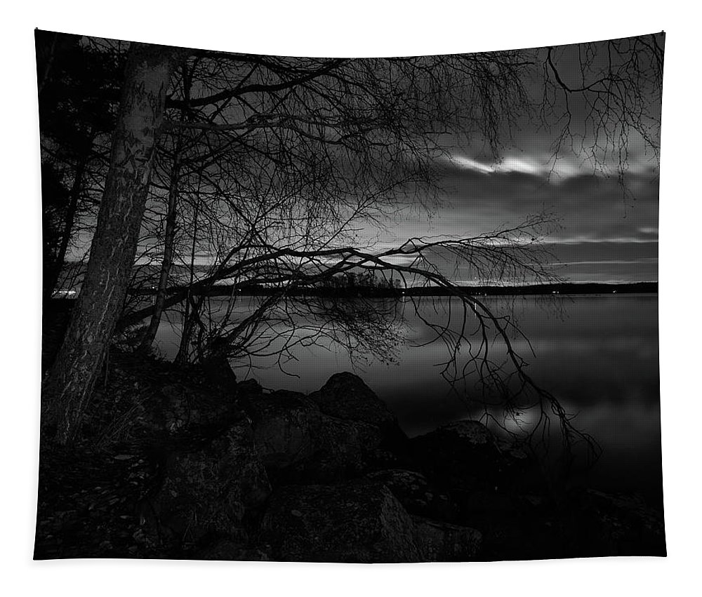 Finland Tapestry featuring the photograph Full Moon Behind The Clouds by Jouko Lehto