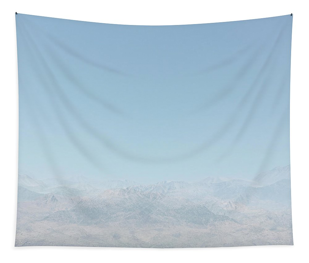 Mountains Tapestry featuring the photograph Ghost Mountains by Cassia Beck