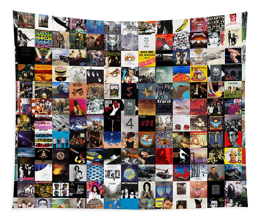 Album Covers Tapestry featuring the digital art Greatest Album Covers of All Time by Zapista OU