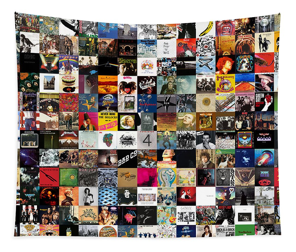 Album Covers Tapestry featuring the digital art Greatest Rock Albums of All Time by Zapista OU