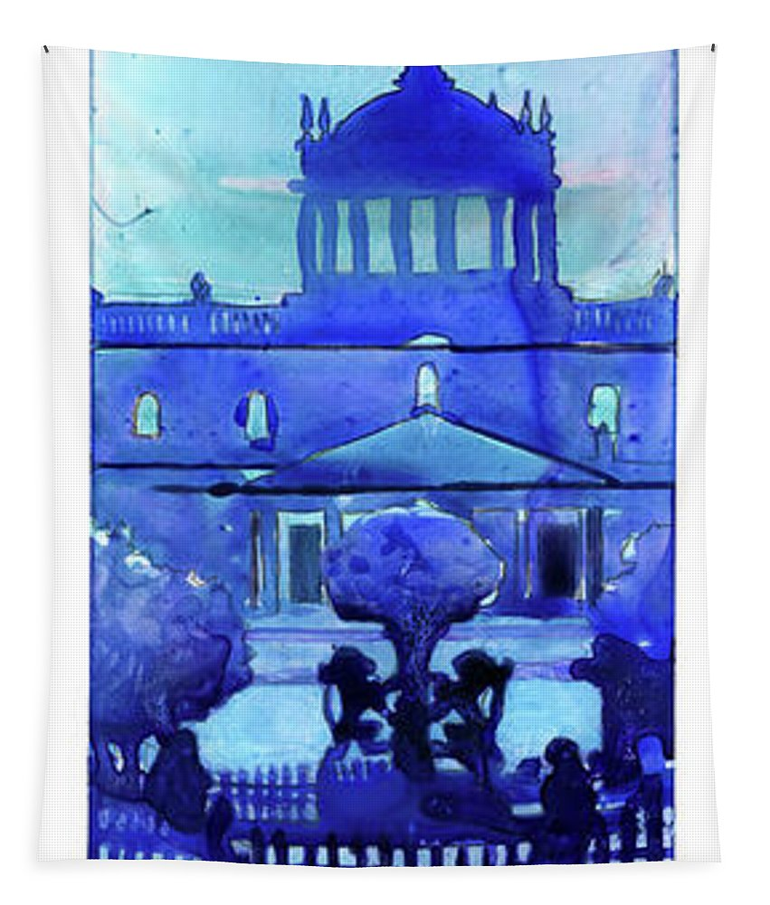 Architecture Guadalajara Tapestry featuring the painting Guadalajara Morning- Mexico by Ryan Fox