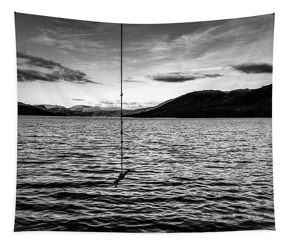 Black And White Tapestry featuring the photograph Hanging Around by Keith Elliott
