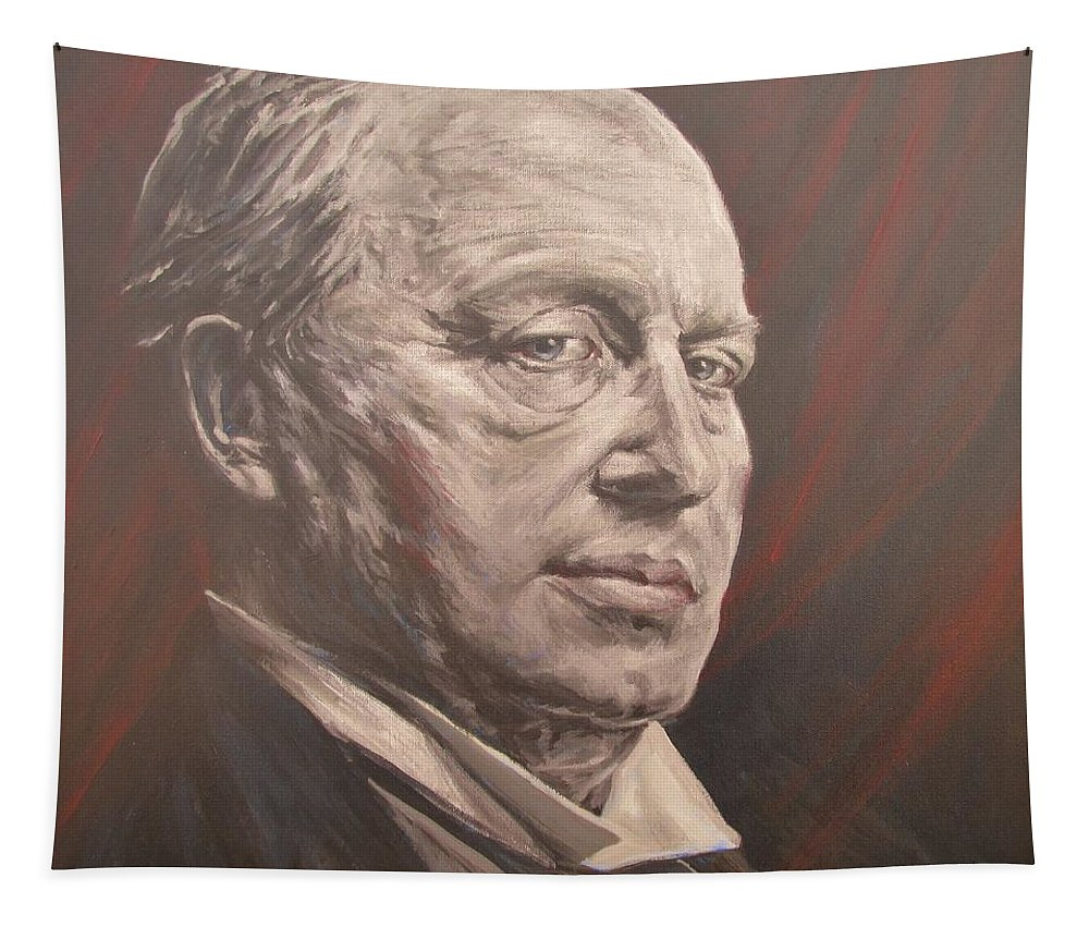 Henry James Tapestry featuring the painting Henry James by Daniel Bosler