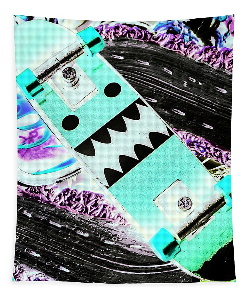 Street Tapestry featuring the photograph Highway Monster Decks by Jorgo Photography - Wall Art Gallery