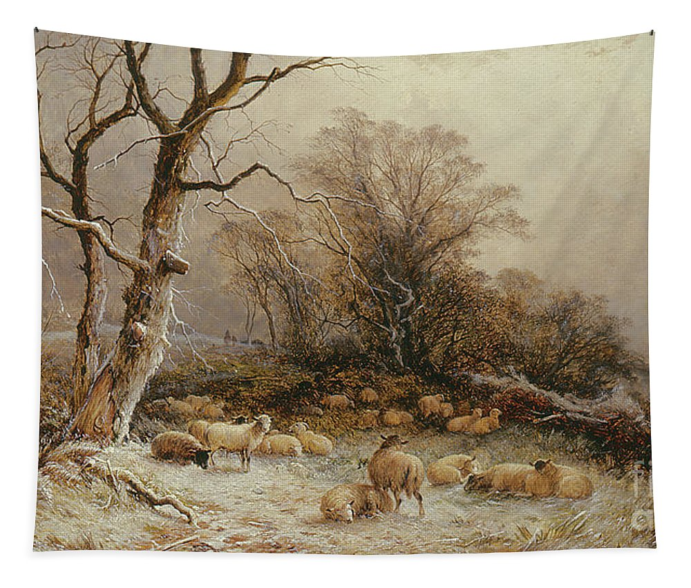 Snow Tapestry featuring the painting Hoar Frost by George Augustus Williams