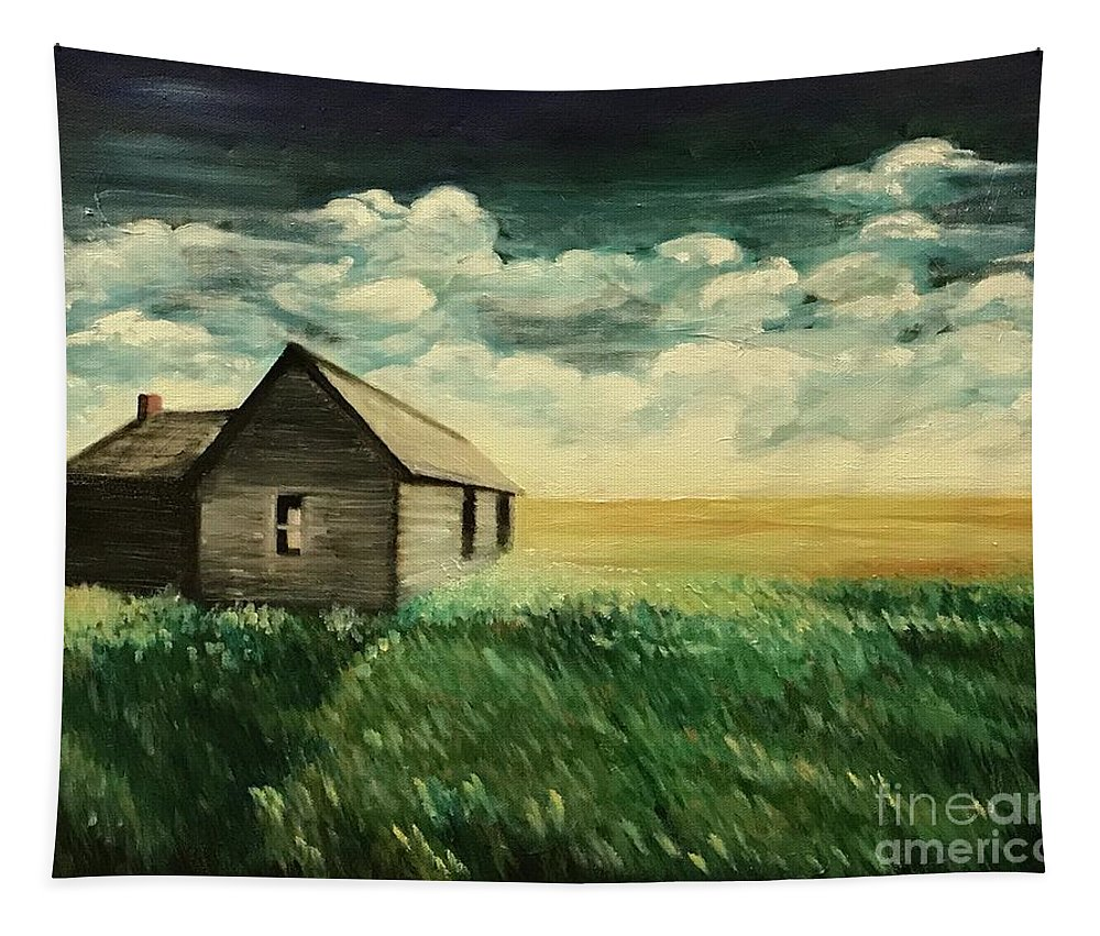 Oil Painting Tapestry featuring the painting Homestead by Boni Arendt
